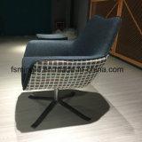 Footrest를 위한 오토만을%s 가진 직물 유형 회전 의자