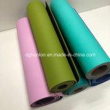 Couvre-tapis antidérapant texturisé de yoga de matériau en caoutchouc respectueux de l'environnement de bande