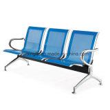 3 places l'aéroport de métal chaise sans Rembourrage Coussin