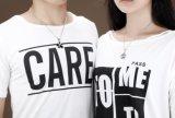 Одна пара из нержавеющей стали Святого Валентина головоломки подвесной пару ожерелья, черный и серебристый цвет и стиль для женщин и мужчин влюбленных пар