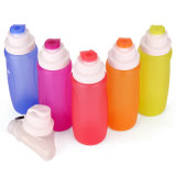 Durable Collapsible Outdoor Sport Silicone Toilets Bottle with FDA/LFGB Passed