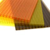 Placa da parede do gêmeo da folha do policarbonato do painel da barreira da passagem superior