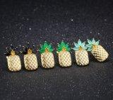 Новые шпильки ананаса серьги для женщин Золотой лист контакт голубой циркон кристаллы серьги ухо Brincos женщин до