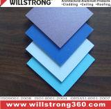 Painel composto de alumínio da fachada para a cor azul