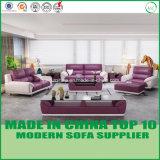 Modernes Büro-Möbel-echtes Leder-hölzernes Sofa