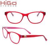 Unisex-Oogglazen van het Metaal van de Acetaat Clubmaster van Eyewear A18835 van Higo Retro 50 mm