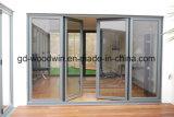 Portello di piegatura di legno e di alluminio del blocco per grafici con vetro Tempered