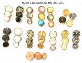 Modekleding, hoogwaardige metalen combinatieknoppen, metalen resin-combinatieknoppen, modeaccessoires, gebruikt voor kledingaccessoires.