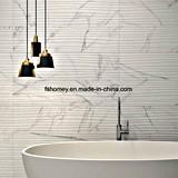 Mattonelle di marmo di superficie Vedere-Tirate bianche della parete del pavimento della porcellana di Carrara