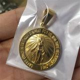 보석과 같은 종교 동전 모양 기적적인 메달 목걸이에 펜던트 또는 팔찌형 P1009