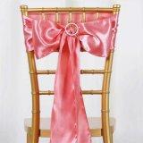 サテンポリエステル結婚式の椅子の弓