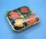 Bac d'aliments de conception en plastique jetables pour Sushi Food Boîte de rangement