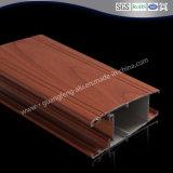 Transferencia Wood-Grain OEM de materiales de construcción 6063 T5 Extruted perfil de aluminio