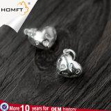 Gli accessori d'argento S925 comerciano i monili all'ingrosso d'argento in rilievo Handmade del pendente penetranti cavità stereo d'argento DIY del cuore