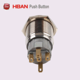 19mmのステンレス鋼の防水照らされた瞬時の押しボタンスイッチ