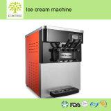 Le tableau comptoir commercial de la crème glacée molle la machine