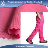 Tessuto degli abiti sportivi di stirata del fronte del doppio della ratiera dello Spandex del poliestere per i pantaloni esterni