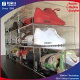 Personnaliser la boîte de présentation acrylique de chaussure de cas d'exposition clair de PMMA