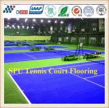 La gomma della corte di tennis professionale mette in mostra la stuoia della pavimentazione/superfici di sport