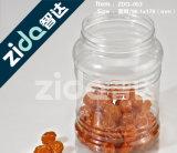 Bottiglia di plastica dell'animale domestico variopinto con il coperchio di alluminio della protezione
