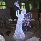Anjo ao ar livre do diodo emissor de luz para luzes da decoração do Natal