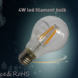 2015 hoogste Sale 4W LED Filament Bulb 120lm/W met 360 Degree