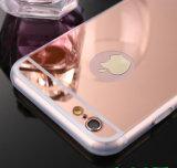 携帯電話カバーケースとiPhone 5/5s/5se6/6s/6のための柔らかいゆとりTPUの電話箱を電気めっきする移動式アクセサリの贅沢なミラー