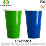 BPA Free Plastic Double Wall Solo Cup con Lid