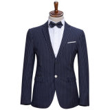 遅の卸売細いしまのある2つのボタンの余暇の人のスーツ