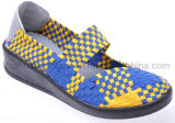 Chaussures occasionnelles tissées par femmes (SDCF4013)