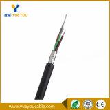 Dos núcleos ao ar livre do duto 12 de GYTS cabo de fibra óptica da manutenção programada