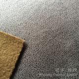 Tessuto di cuoio del residuo della pelle scamosciata del poliestere con il trattamento di timbratura di oro