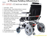 Goldener Motorc$e-thron elektrischer Rollstuhl, Powerwheelchair, Falz und faltbares für Behinderte