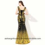 Mermaid платья вечера Sequin золота платье вечера официально Lace-up