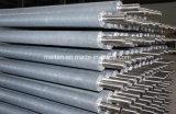 Tubo de aleta de aluminio extrudido de venta caliente para enfriamiento de aire
