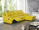El sofá de la sala de estar con el sofá moderno del cuero genuino fijó (421)