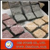 El chino de granito gris rojo amarillo Curbstone Volteo la pavimentación de la piedra (DES-CB03)