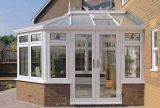 일광실 (PCD-011)를 위한 석쇠 디자인을%s 가진 유럽식 Frence PVC 여닫이 창 유리제 문