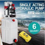 Einzelner verantwortlicher Speicherauszug-Schlussteil der Hydraulikpumpe-12V - 6 Quart-lichtdurchlässiger Hydrauliktank