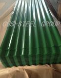 Panneau de toiture en métal de couleur de matériau de construction/tôle d'acier ondulée enduite d'une première couche de peinture