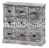 Supporto di legno Handmade della casella di legno dell'annata della cassa di legno di colore bianco