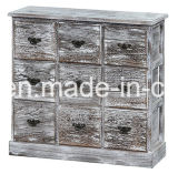 Caixa de madeira de madeira de madeira Caixa de madeira vintage Porta de madeira
