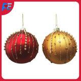 Bille de verre pendaison ornement pour les décorations de Noël