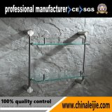 卸売のための最も新しい耐久のステンレス鋼の二重層のガラス棚