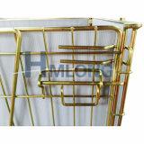 Galvanizado Logistic Steel Transport Wire Mesh Gaiola para Garrafas