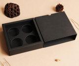 Venta al por mayor 4 paquetes del rectángulo negro de Mooncake de la tarjeta, tipo rectángulo de Mooncake, surtidor del cajón del rectángulo de regalo