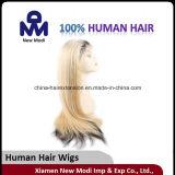 De Indische Maagdelijke Pruik van het Menselijke Haar, de Volledige Pruik van het Kant