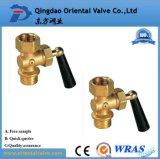 Шариковый клапан дюйма конца 1/2 соединения низкой цены верхнего качества управляемый рукой латунный с ниппелью