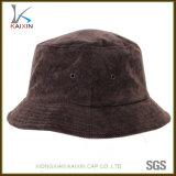 Cappello in bianco normale su ordinazione della benna del velluto a coste con il vostro proprio marchio