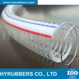 Hyrubbers Transparent PVC Steel Wire Flexible renforcé / Flexible Plastic Tube Tube / PVC Hose